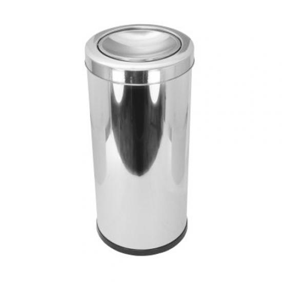Lixeira Aço Inox com Tampa 22 Litros Scalfo