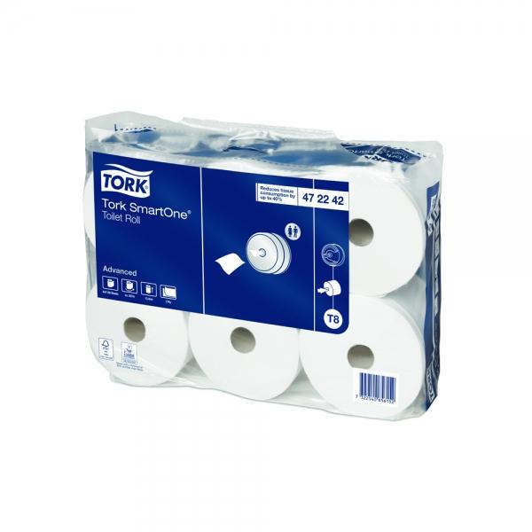 Papel Higiênico Branco Smartone Advanced Folha Dupla Tork