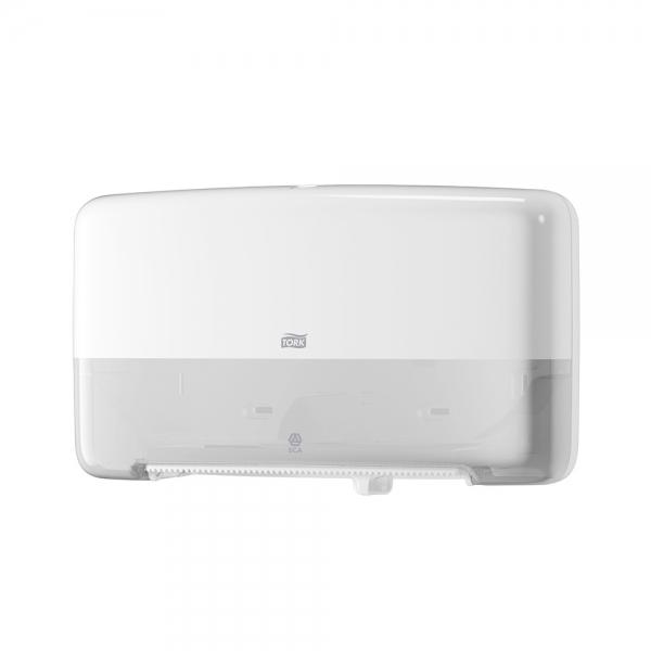 Dispenser Papel Higiênico Jumbo Duplo Twin Branco Tork 555520