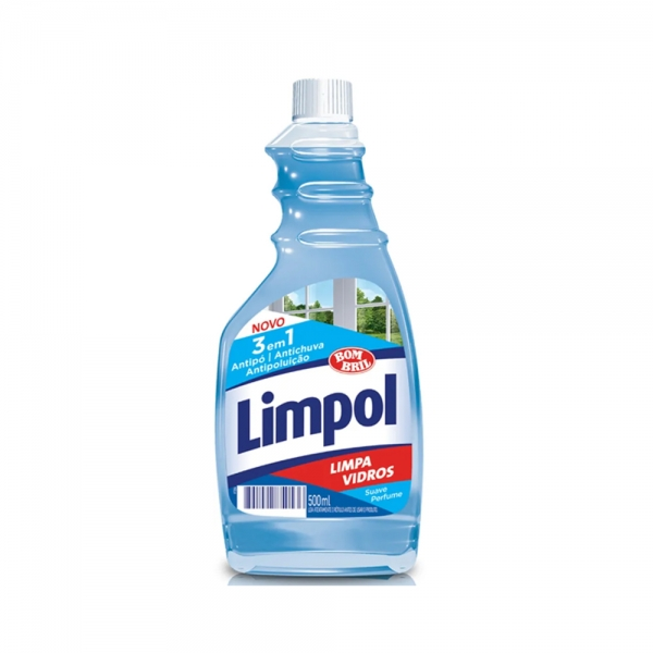 Limpa Vidros Pratice/Limpol 3 em 1 500ml Bombril