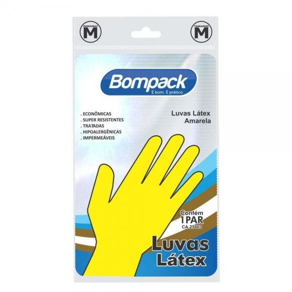 Luva Látex Forrada Amarela Pequena Bompack
