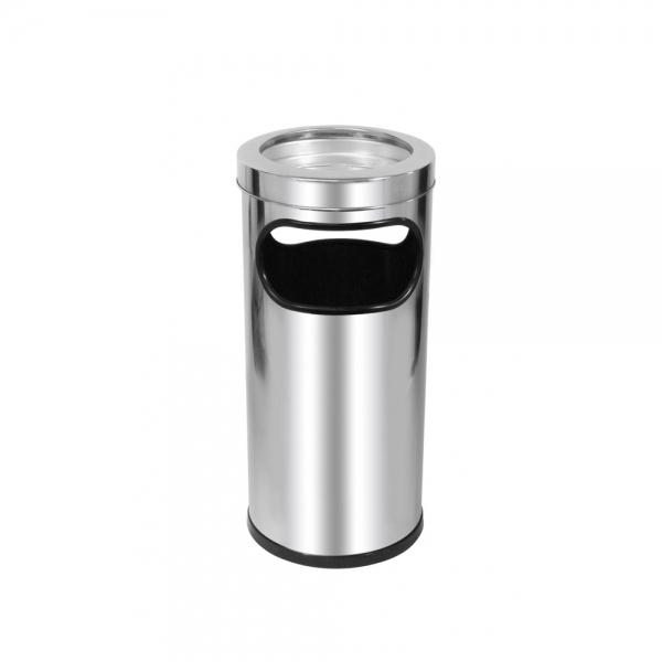 Cinzeiro Lixeira Aço Inox c/ aro C2 22L Scalfo