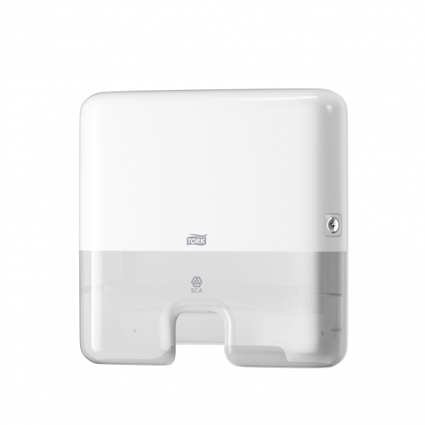 Dispenser de Papel Toalha Interfolhado Mini Branco Tork 552100