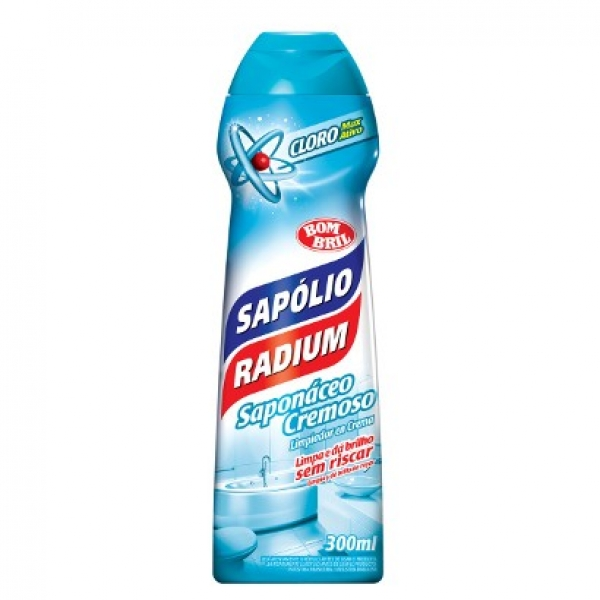 Sapólio Líquido Cremoso Radium c/ Cloro 300ml Bombril 14013