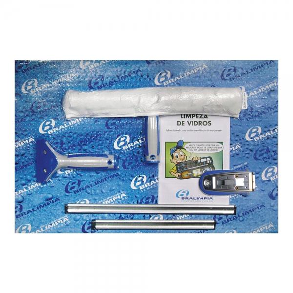 Kit Limpa Vidros Cartela s/ cabo Mini KT900 Bralimpia